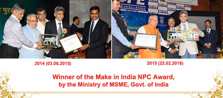 Winner of make in India NCP Award