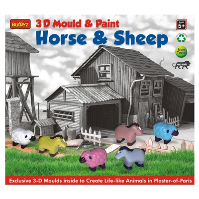 3D Mould & Paint Horse & Sheep - MRP Rs. 199/-
