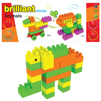 Brilliant Blocks - Animals - Carry Bag - MRP Rs. 299/-