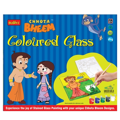 Chotta Bheem Colored Glass - MRP Rs. 199/-